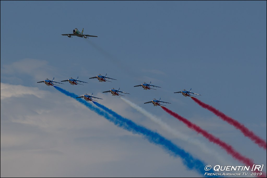 F-86 Sabre & Patrouille de France Meeting de l'Air BA-115 Orange 2019 Canon Sigma France contemporary lens Meeting Aerien