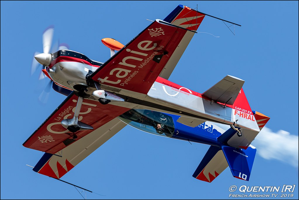 Voltige en Extra Meeting de l'Air BA-115 Orange 2019 Canon Sigma France contemporary lens Meeting Aerien