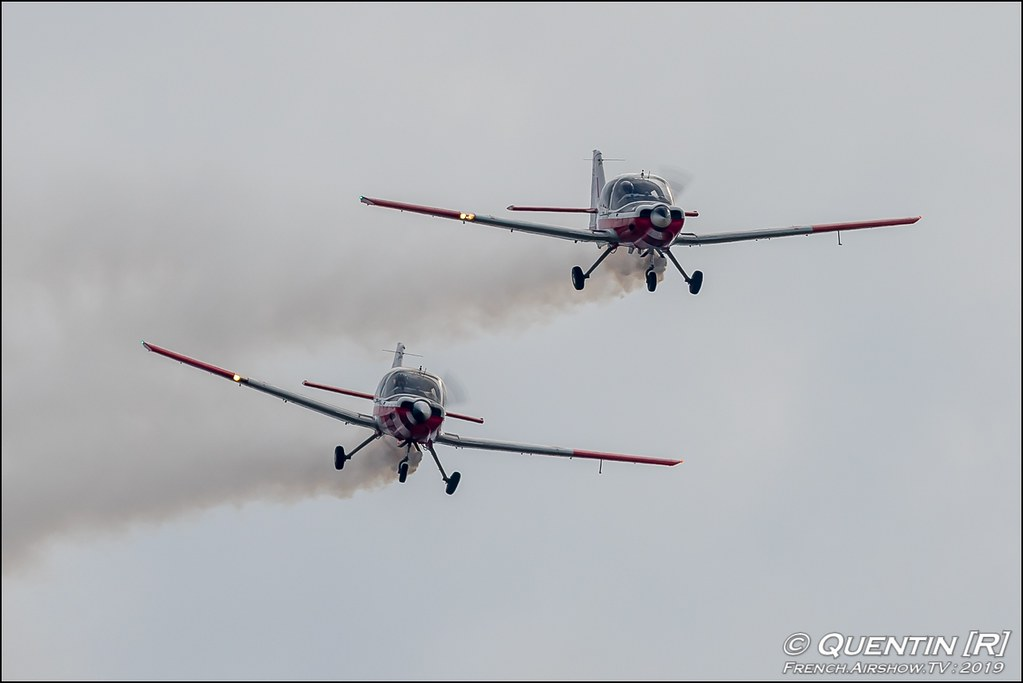 Patrouille Bulldog Team Scottish Aviation T MK1 bulldogteampatrouille Meeting de l'Air BA-115 Orange 2019 Canon Sigma France contemporary lens Meeting Aerien