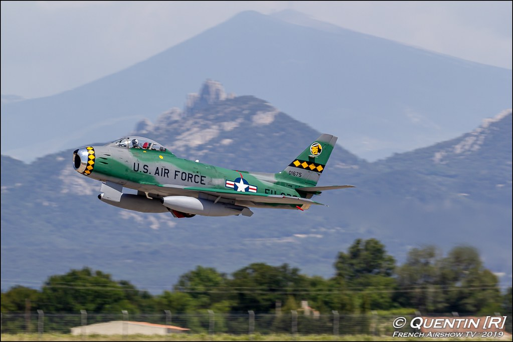 F86 Sabre France F-AYSB Frédéric Akary f-86 Mistral Warbirds Meeting de l'Air BA-115 Orange 2019 Canon Sigma France contemporary lens Meeting Aerien