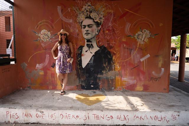 Deya with Frida Kahlo in Zihuatanejo