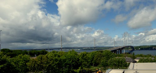 Forth road bridges old and new