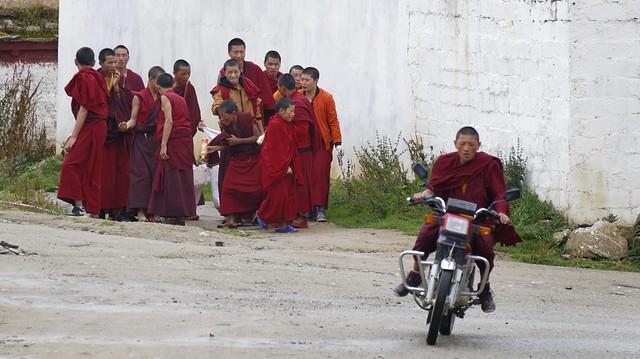Street scene of Ganden Tubchen Chokhorling, Tibet 2018
