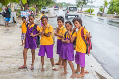 primary school kids at the bus stop-1