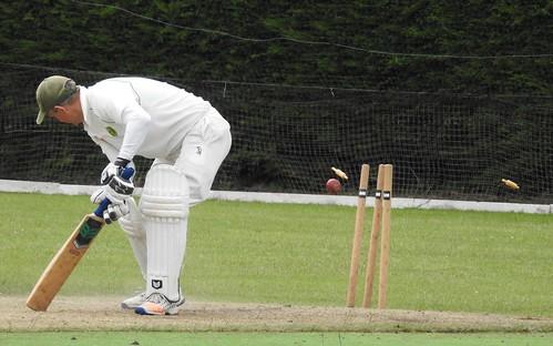 Wicket for Alex Lawrence v Ellerslie