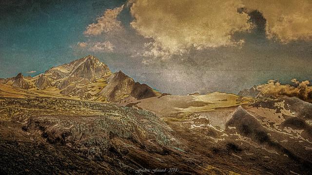 Gravure des Alpes