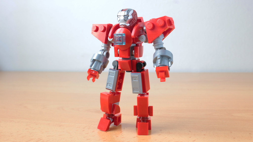 Lego Iron Man Silver Centurion MOC