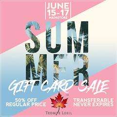 Trompe Loeil - Summer Gift Card Sale June 15-17