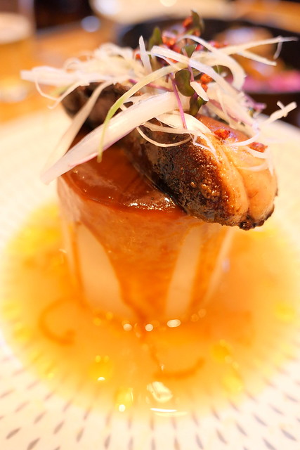 foie gras Japanese radish 絶品フォアグラ大根 合わせ味噌のソース