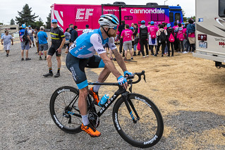 Hamish Schreurs of Israel Cycling Academy after the finish of Stage 3 in Morgan Hill