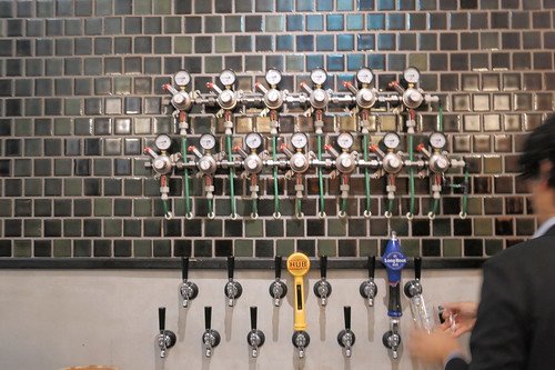 beer taps at NIHONBASHI BREWERY T.S.