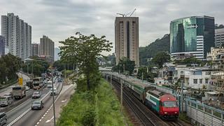 Swiss locomotive in Hong Kong