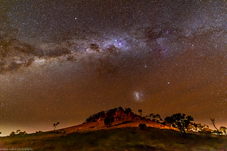 milky way over Baldy Top Hill 2