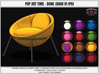 [IK] Pop Art Time - Bowl Armchair (PG)