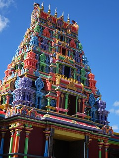 Nadi. The brightly coloured Hindu temple of Sri Sivasubramaniya Swami. Most of the Nadi community are of Indian heritage. Temple built 1992 1994. First temple built 1914.