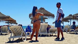Small talk at the beach