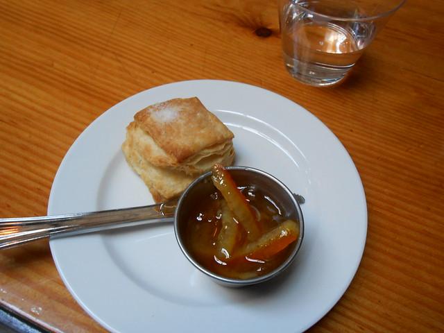 Biscuit with orange marmelade