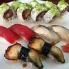 """Dinner out at Sushi Katana with wasabi mayo topped """"dynamite hamachi roll"""" #sushi #orlandoeats #sushinigiri #unagi #saba #meguro"""