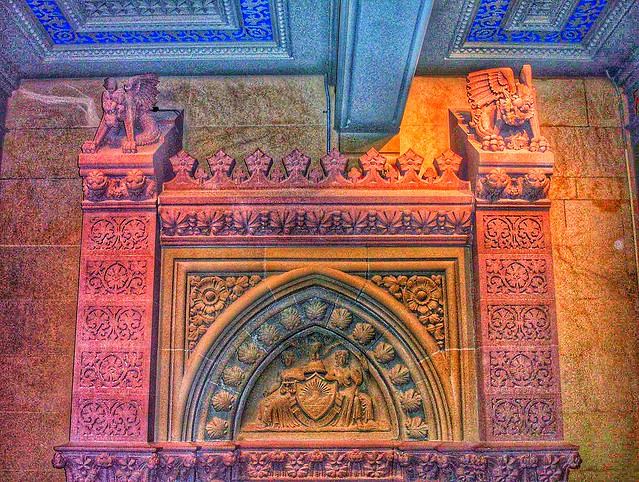 New York State Capitol ~ Albany New York ~ Governors Reception Room  - Fireplace  Mantel