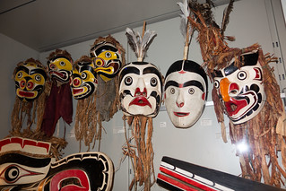 Collection of B.C. native masks