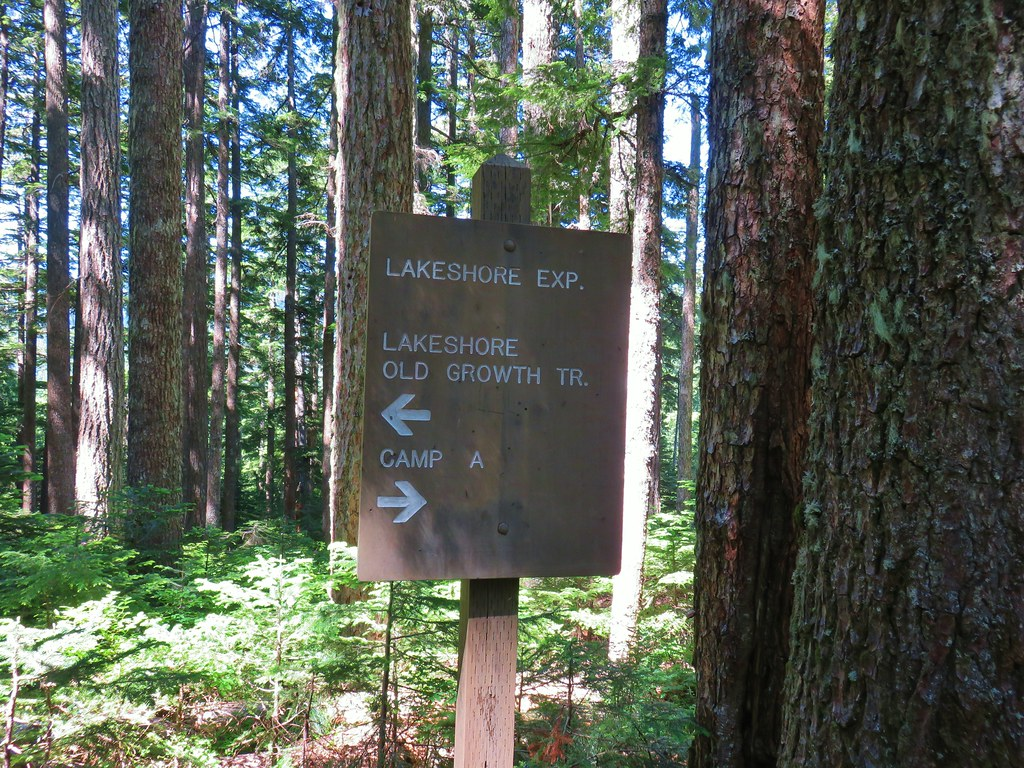 Trail sign at Lost Lake