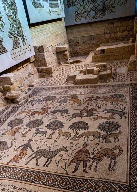 Ancient Tiled Floor, Mt. Nebo Basilica (3/3), Jordan