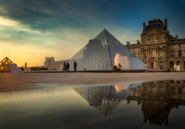 Evening at the Louvre