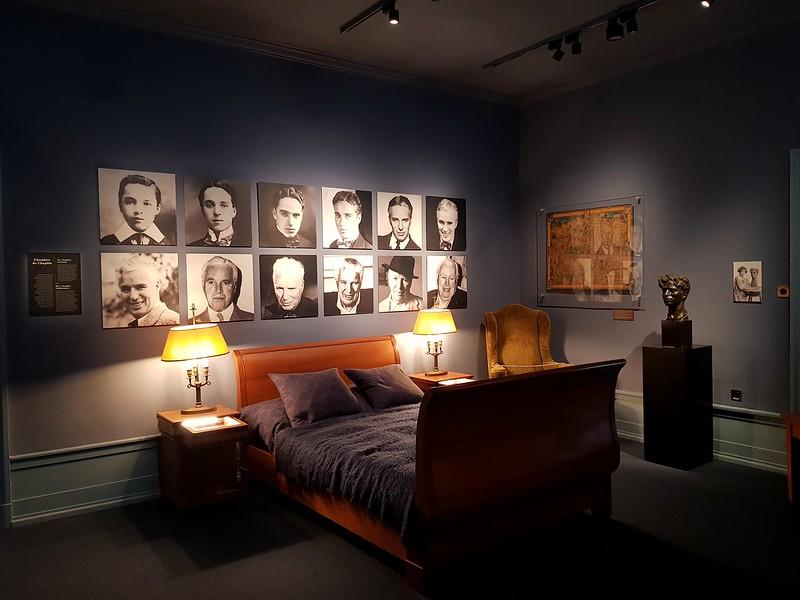 El dormitorio de Charles Chaplin. Chaplin's World. Suiza.