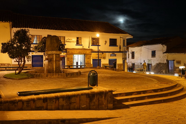 Small square in the moonlight