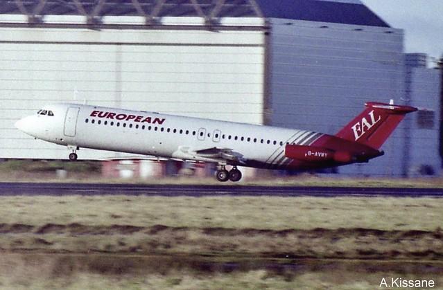 EUROPEAN AIRLINES BAC111 G-AVMY