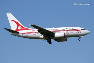 737.6H3 TUNIS AIR TS-IOP 29500 - 543 70TH ANNIVERSARY RETRO SPECIAL COLOURS 13 06 19 TLS