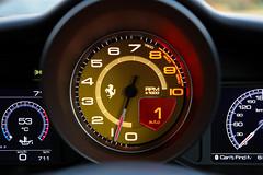 Ferrari 488 GTB Rev Counter and Instrumentation