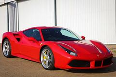 Ferrari 488 GTB Front Side View