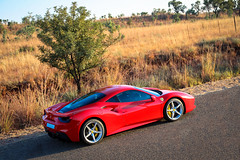 Ferrari 488 GTB Elevated Side View