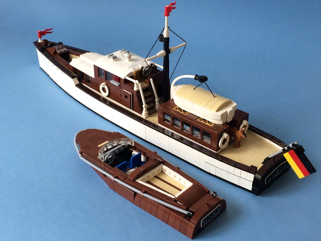 Two boats (custom built Lego model)