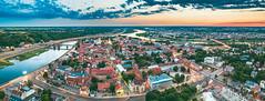 Kaunas old town panorama | Aerial