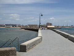 Cadiz - promanade back from Castle of San Sebastian