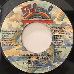 EDWIN BIRDSONG:RAPPER DAPPER SNAPPER(LABEL SIDE-B)
