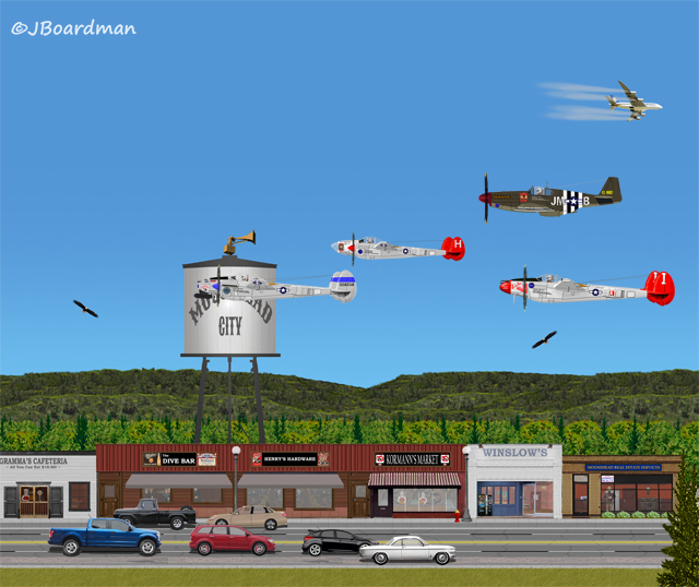 Our Heroes flew over Moosehead City ©Jack Boardman