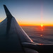 Sunset from a plane-1
