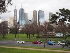 View of CBD from Queen Victoria Memorial