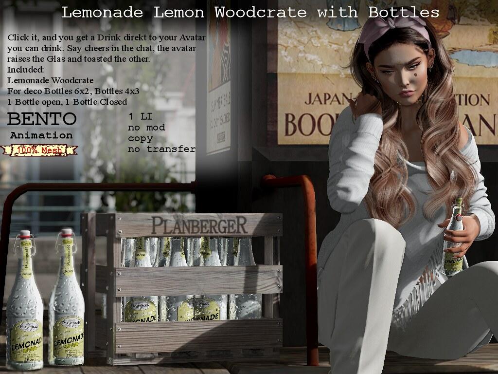 Lemonade bottles in Woodcrate
