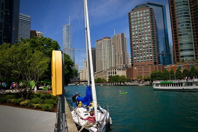 Bridges up - Chicago River Chicago IL