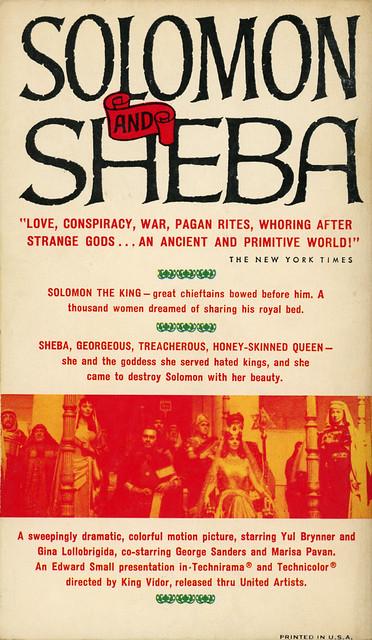 Bantam Books A1958 - Jay Williams - Solomon and Sheba (back)