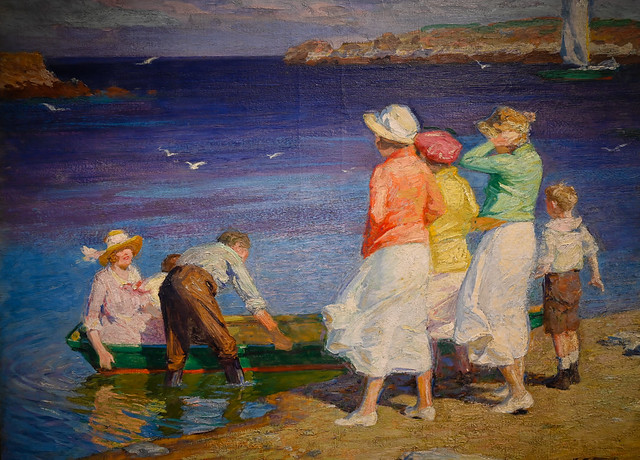Edward Pothast - A Sailing Party (Going for a Sail), 1924 at Cincinnati Art Museum - Cincinnati OH