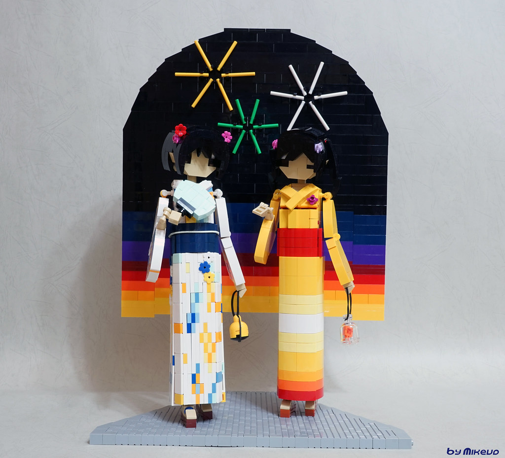 JBF2019 Models: Festival Girls (custom built Lego model)