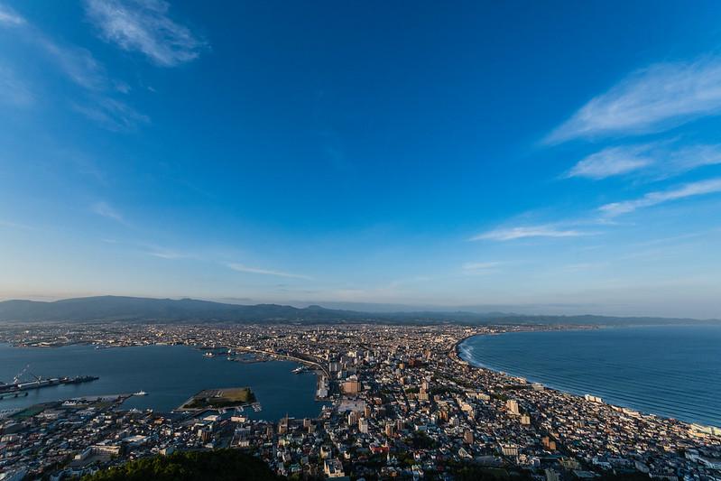 函館山展望台から見た函館市街