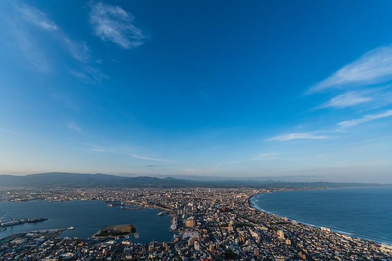 函館山展望台から函館市街を広角レンズで撮影