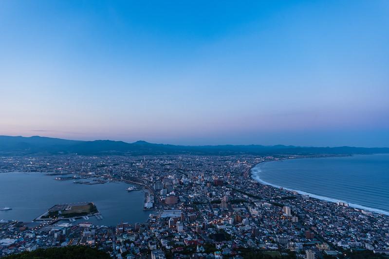 函館山展望台からの夜景・日没時間