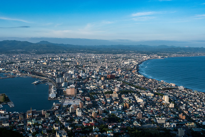 函館山展望台から函館市街を標準単焦点レンズで撮影